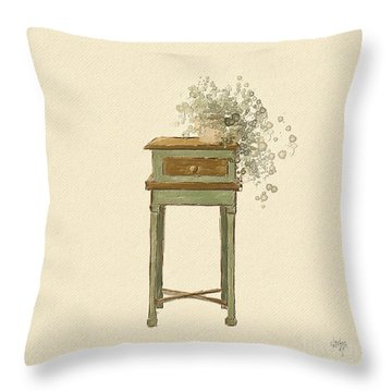 Cottage Style With Ivy Throw Pillow