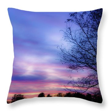Cotton Candy Sunset In October Throw Pillow