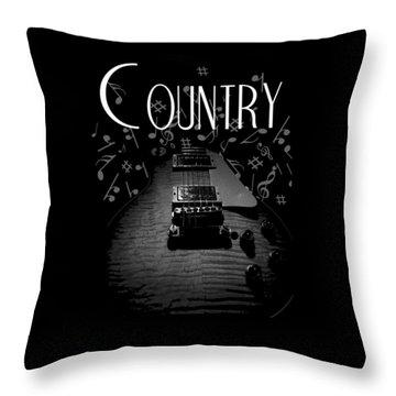 Country Music Guitar Music Throw Pillow