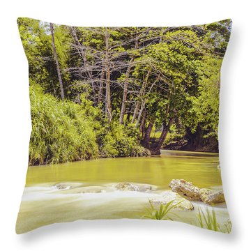 Country River In Trelawny Jamaica Throw Pillow