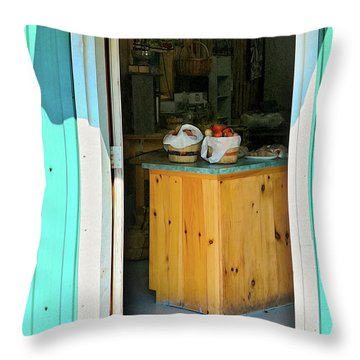 Throw Pillow featuring the photograph Country Store by Tatiana Travelways