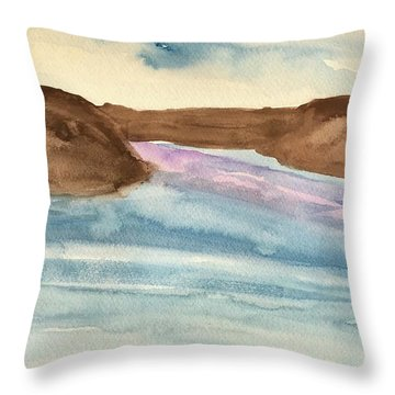 County Lake Throw Pillow