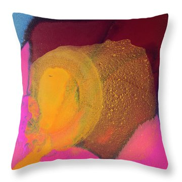 Couple In A Car Chase Throw Pillow