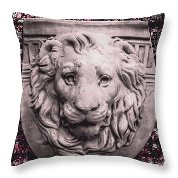 Courage Crest Throw Pillow
