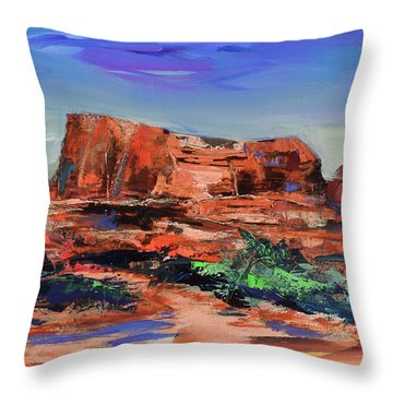 Courthouse Butte Rock - Sedona Throw Pillow