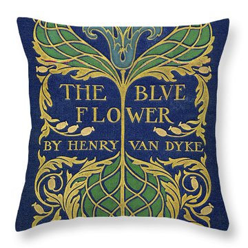 Cover Design For The Blue Flower Throw Pillow