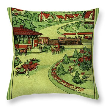 Cover Of Thirty Miles Around Philadelphia Throw Pillow