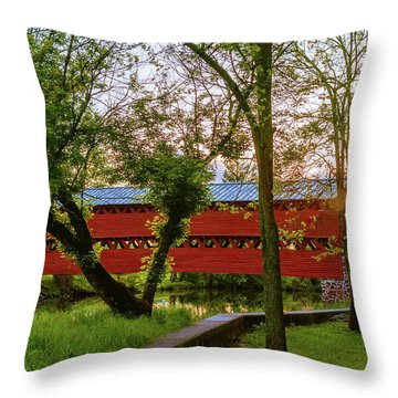 Covered Through Tree Throw Pillow