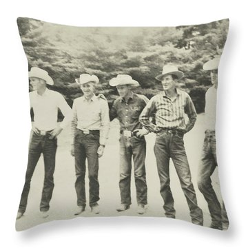 Cowboy Tribe Throw Pillow
