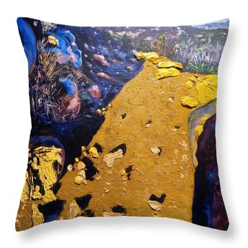 Throw Pillow featuring the painting Cowles Mountain by Ray Khalife