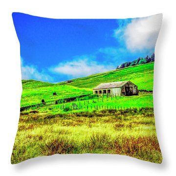 Cows Grazing Throw Pillow