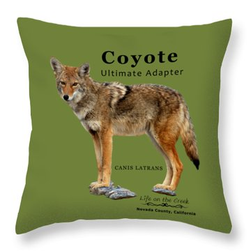 Coyote Ultimate Adaptor Throw Pillow