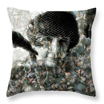 Cp In Black Gloves Throw Pillow