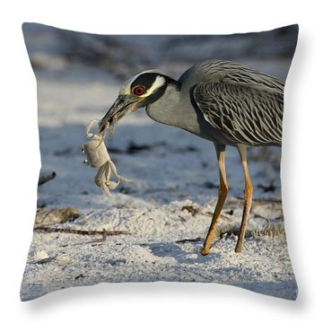 Crab For Breakfast Throw Pillow
