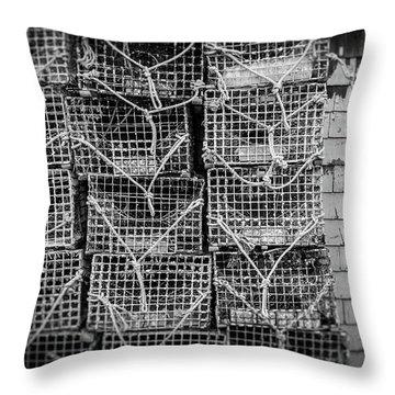 Crab Traps Throw Pillow