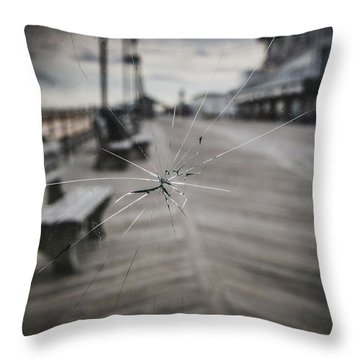 Throw Pillow featuring the photograph Crack by Steve Stanger