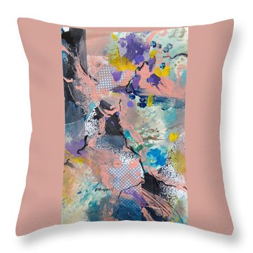 Cracked Throw Pillow