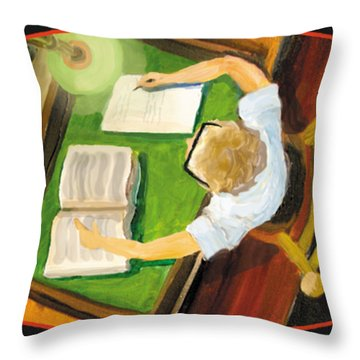 Crack'n The Books Throw Pillow