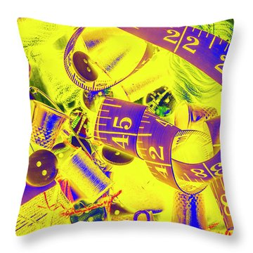Crafting Colours Throw Pillow