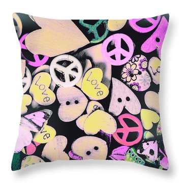 Crafting Harmony  Throw Pillow