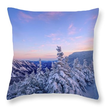 Crawford Notch Winter View. Throw Pillow