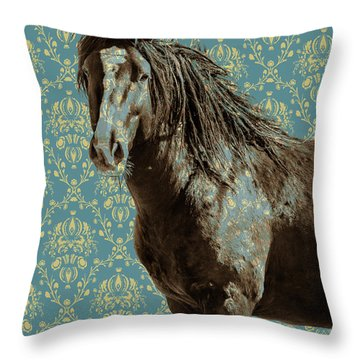 Crazy Blue Throw Pillow