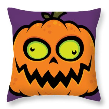 Crazy Pumpkin Throw Pillow