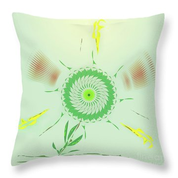 Throw Pillow featuring the digital art Crazy Spinning Flower by James Fannin