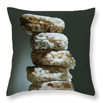 Cream And Jelly Throw Pillow