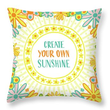 Create Your Own Sunshine Throw Pillow