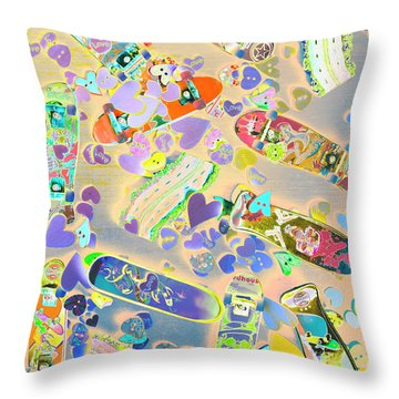 Creative Skate Throw Pillow