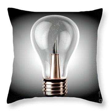 Creativity Light Bulb Concept Throw Pillow