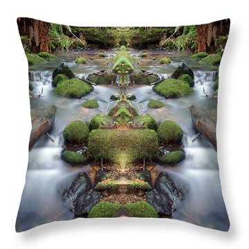 Creek Diamonds #1n Throw Pillow