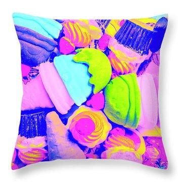 Creme De La Ice-cream Throw Pillow