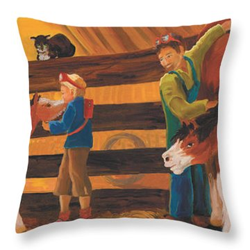 Cricket And Ginger Throw Pillow