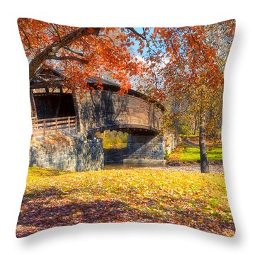 Throw Pillow featuring the photograph Crimson Beauty by Russell Pugh