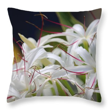 Crinum Lily Closeup Throw Pillow