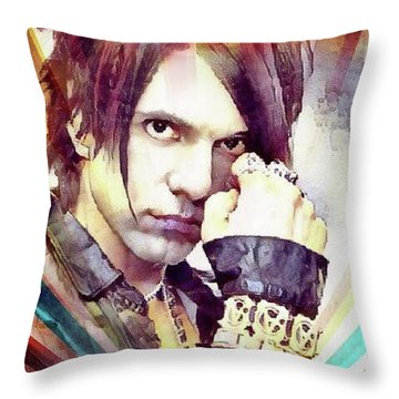 Criss Angel Throw Pillow