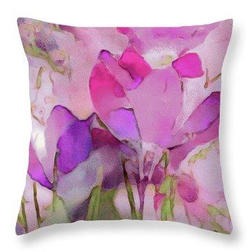 Crocus So Pink Throw Pillow