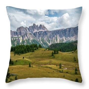 Croda Da Lago Throw Pillow