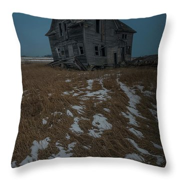 Throw Pillow featuring the photograph Crooked Moon by Aaron J Groen