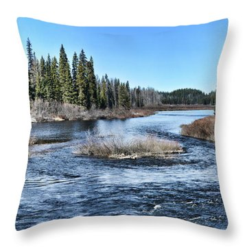 Crooked River Throw Pillow