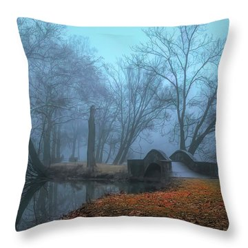 Crossing Into Winter Throw Pillow