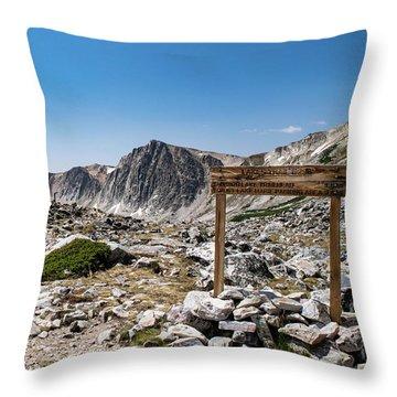 Crossroads At Medicine Bow Peak Throw Pillow