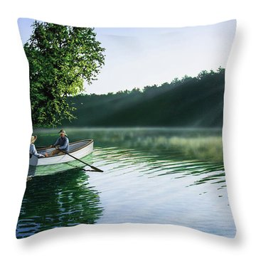 Cruise For Two Throw Pillow