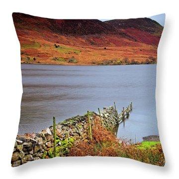 Crummock Water - English Lake District Throw Pillow