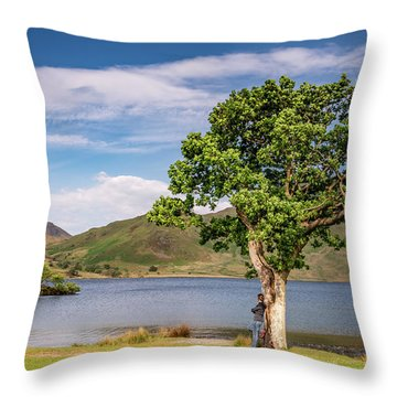 Crummock Water View Throw Pillow