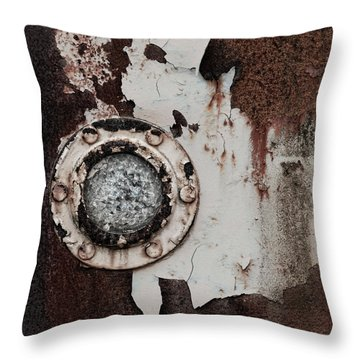Crushed Glass Peeling Paint Throw Pillow