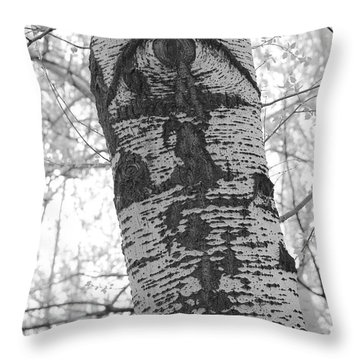 Crying Poplar Throw Pillow