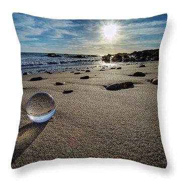 Crystal Ball Sunset Throw Pillow